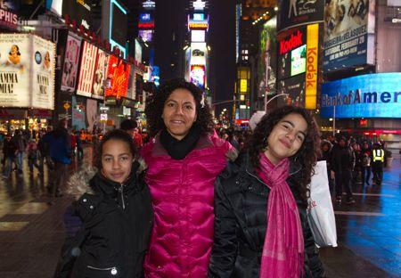 Times square i februar kulde.