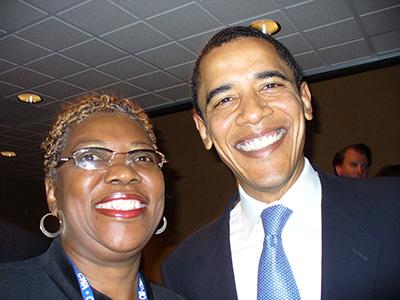Min elskede faster (før vægtkirurgi) og Obama