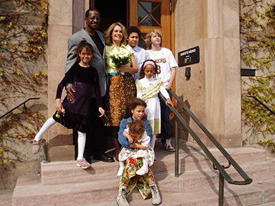 Min fars bryllup, et sjældent etnisk optrin på Gentofte rådhus.