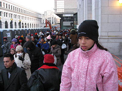 Tiden går mens vi venter på Union station.