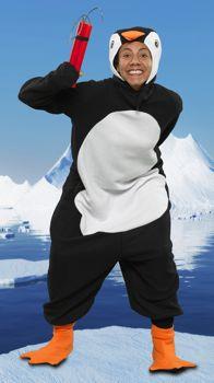 Sådan kan det gå når man ikke læser fest invitationen ordentligt, ikke pingvin i dampbad, men pingvin til vampyrfest????