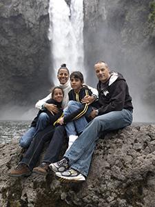 Vi nåede også lige lidt sightseeing, her Snoqualmie falls.