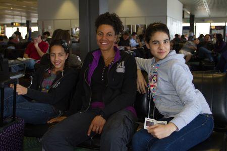 I vores lufthavn SEATAC mens vi stadig var overskudsramte.